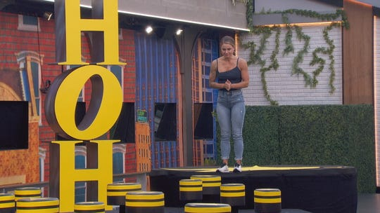 """On the premiere of """"Big Brother: All-Stars,"""" Christmas Abbott competes in the second half of the competition to determine Head of Household."""