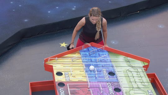 """On the premiere of """"Big Brother: All-Stars,"""" Dani Briones competes in the first half of the competition to determine Head of Household."""