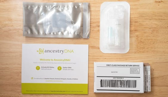 Here's what comes with the Ancestry kit.