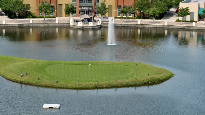The Challenge Hole at the World Golf Hall of Fame.