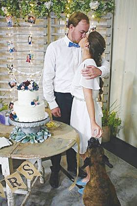 Ander Lindanger of Norway and Morgan Schmidt of Pratt were married in Pratt on July 20, 2020, despite coronavirus complications that kept many family members from being able to come.