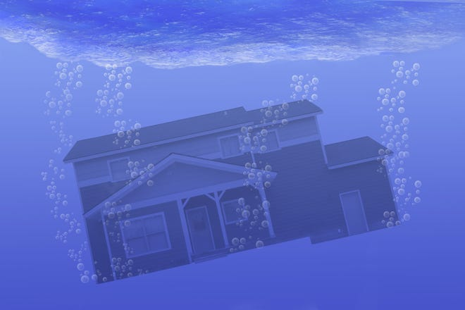 When a home is underwater, the value of the mortgage amount you still owe exceeds the value of the property if you sold it today.