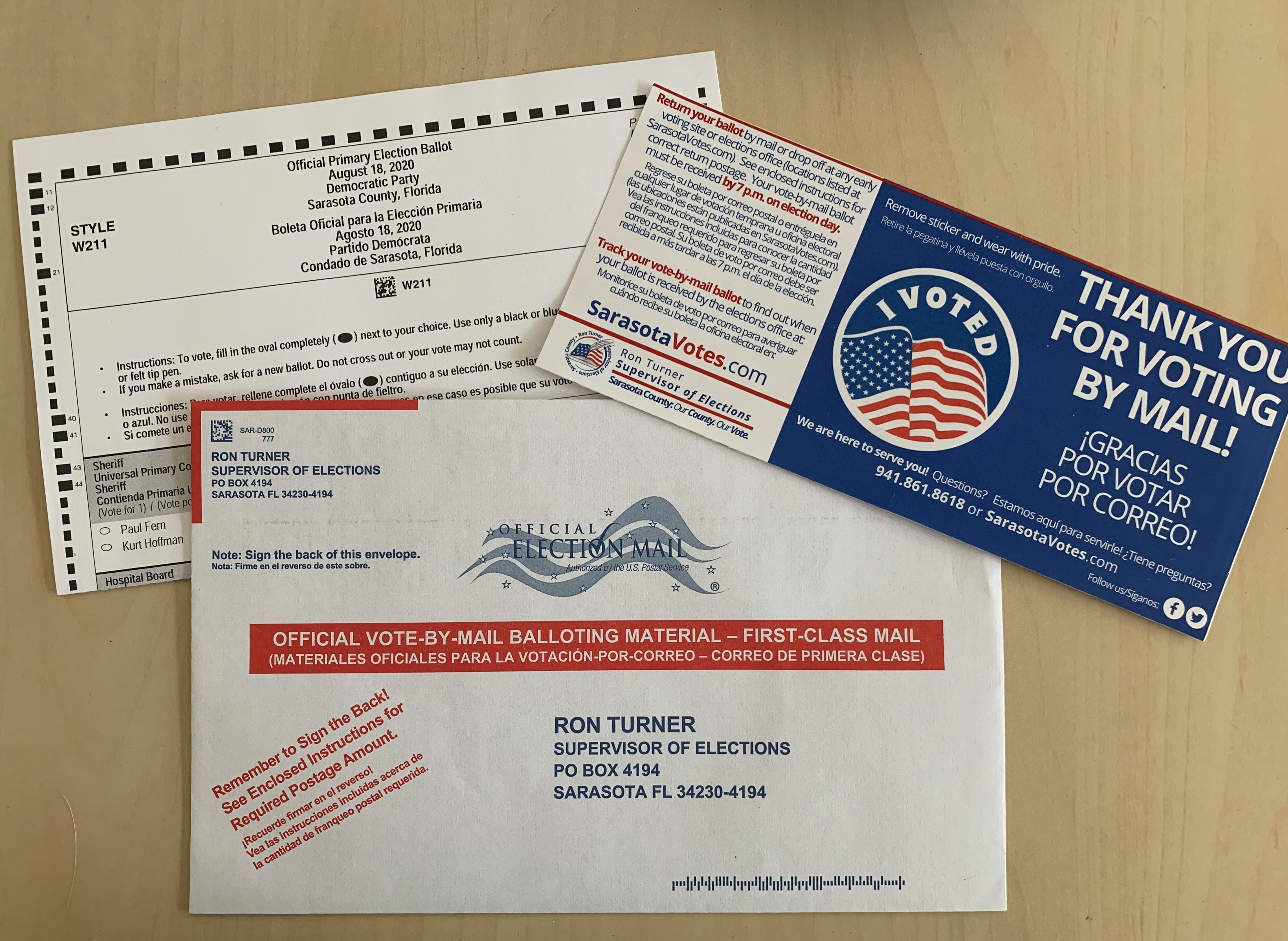 Florida Elections Officials Urge Voters To Return Mail Ballots Quickly