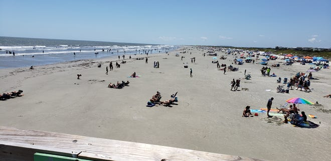 Sunset Beach, from the pier on Aug. 4, 2020.