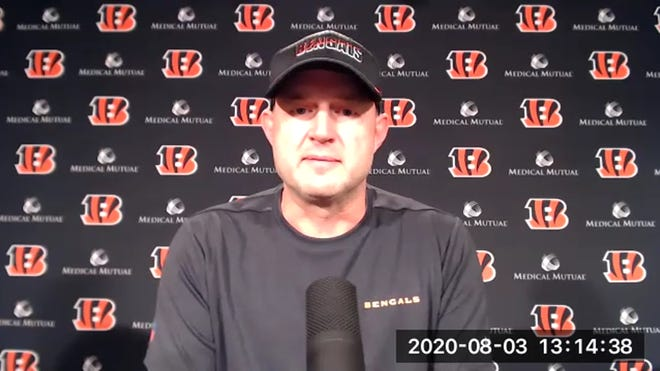 Bengals Director of Player Personnel Duke Tobin talks to the media about training .