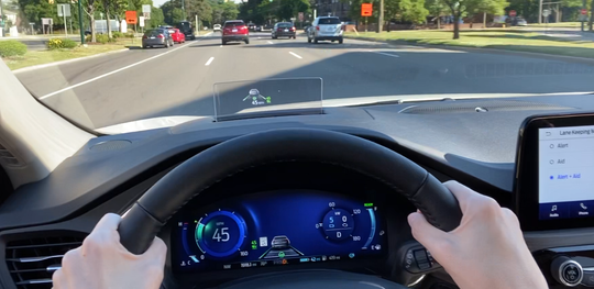 Ford Escape head-up display