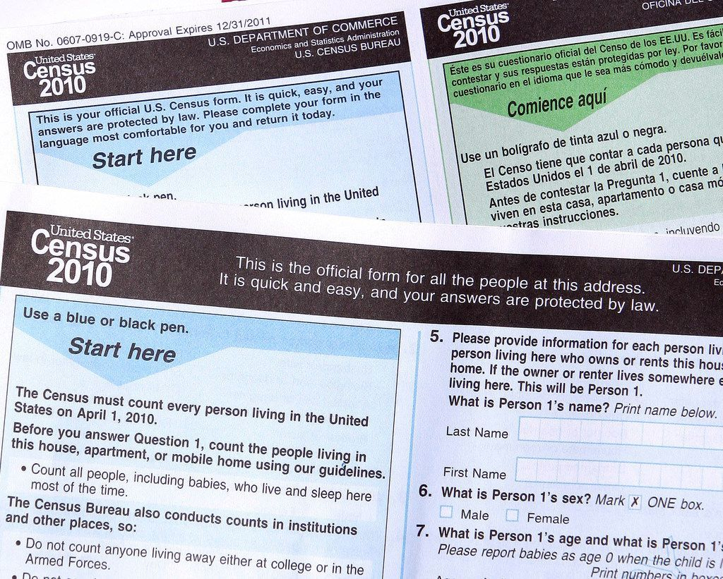 Census forms.