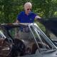 Joe Biden, in a campaign video, drives his Corvette.
