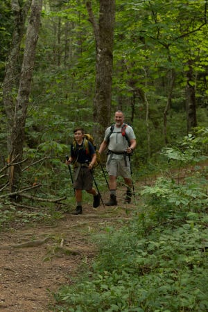 Hiking with a companion is always a great idea to make sure you're safe on the trail.