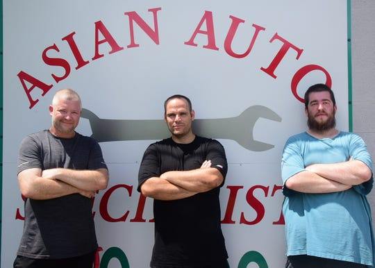Owner Kenny Allison, lead mechanic Tony Smith and shop assistant Trevor Allison all say they are proud of their work at Asian Auto Specialists at 7130 Oak Ridge Highway. Monday, Aug. 3, 2020.