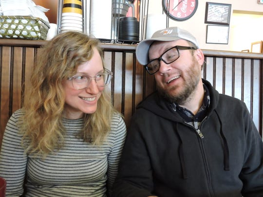 "June Hopper and Ben Maney, married since 2008, now both work at home because of the coronavirus pandemic. ""It's nice!"" says Maney. ""I feel like I have an office mate as well as a life mate."" Feb. 20, 2017."