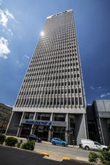 The former PNC Plaza office tower at 500 W. Jefferson St. in downtown Louisville.