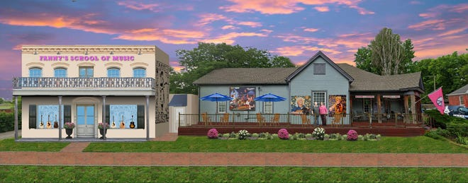 A rendering for Fanny's School of Music in East Nashville's Five Points neighborhood.