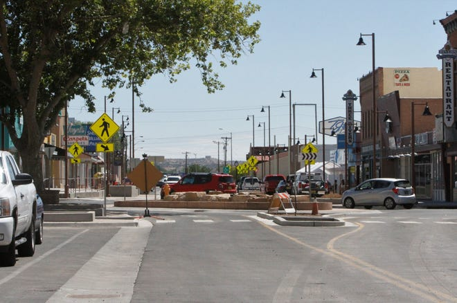 A new roundabout at Orchard Avenue and Main Street was part of the Complete Streets renovation.