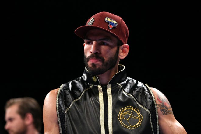 Former world champion Jorge Linares of Venezuela, seen here on March 25, 2017 in Manchester, England, has tested positive for coronavirus.