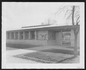 Harmon Library, the city's first branch library, opened on Sept. 11, 1950, with 10,000 books, a 75-seat auditorium and two sound-proof rooms for listening to records.