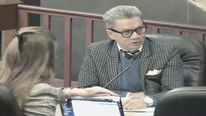 A screenshot of the Dec. 17 Oxnard City Council meeting shows City Manager Alex Nguyen discussing the performing arts center.