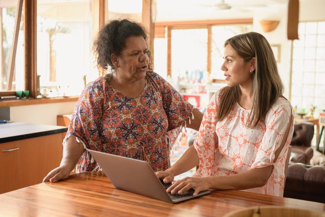Professionals working from home might find that taking care of a senior loved one can become a job in itself. Here's how to maintain some balance.