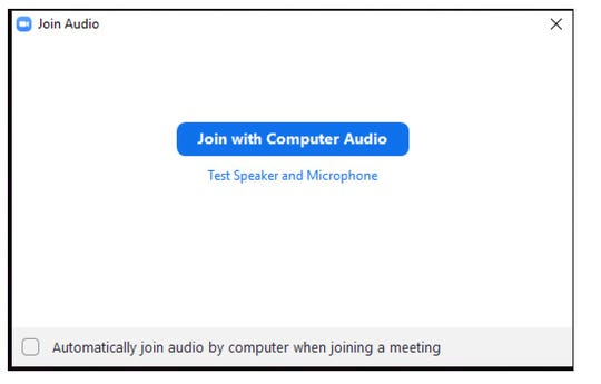 Having trouble getting your audio going in that Zoom call? Don't forget to click the right option before joining the conference call.