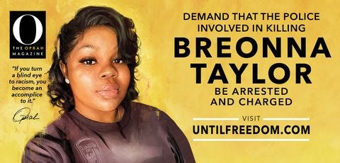Oprah Winfrey is demanding justice for Breonna Taylor with 26 billboards in Louisville