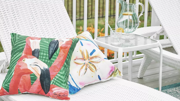 Add some eye-catching details to your patio.