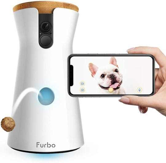 The Furbo Dog Camera ($199.99) is like a 'nanny cam' for your dog. Peek in to see your furry friend and swipe inside an app to eject a treat.