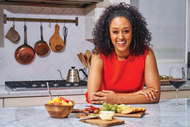 """Tia Mowry shares cooking tips and life hacks on the digital series """"Tia Mowry's Quick Fix"""" on Facebook and YouTube."""