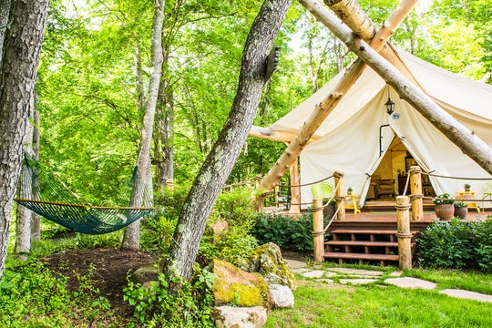 Virginia's Depot Lodge lets you spend the night in safari tents, cabooses and trailers.