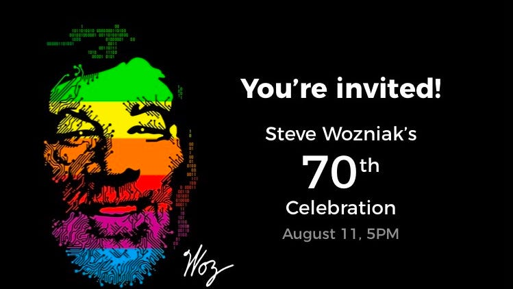 You can celebrate Apple co-founder Steve Wozniak's 70th birthday with celebrity guests - USA TODAY