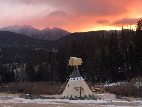Take your pick from teepees, Conestoga wagons, tree tents, and even clear bubble tents open to the night sky at Bison Peak.