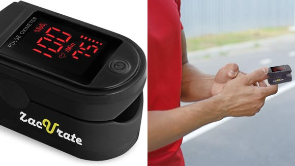 The Zacurate oximeter fits comfortably over fingers of most sizes.