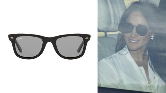 Ray-Ban sunglasses.