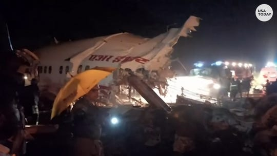 Air India Express flight skids off runway, leaving at least 16 people dead