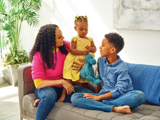 Tia Mowry spends time with her daugher, Cairo, and son, Cree.