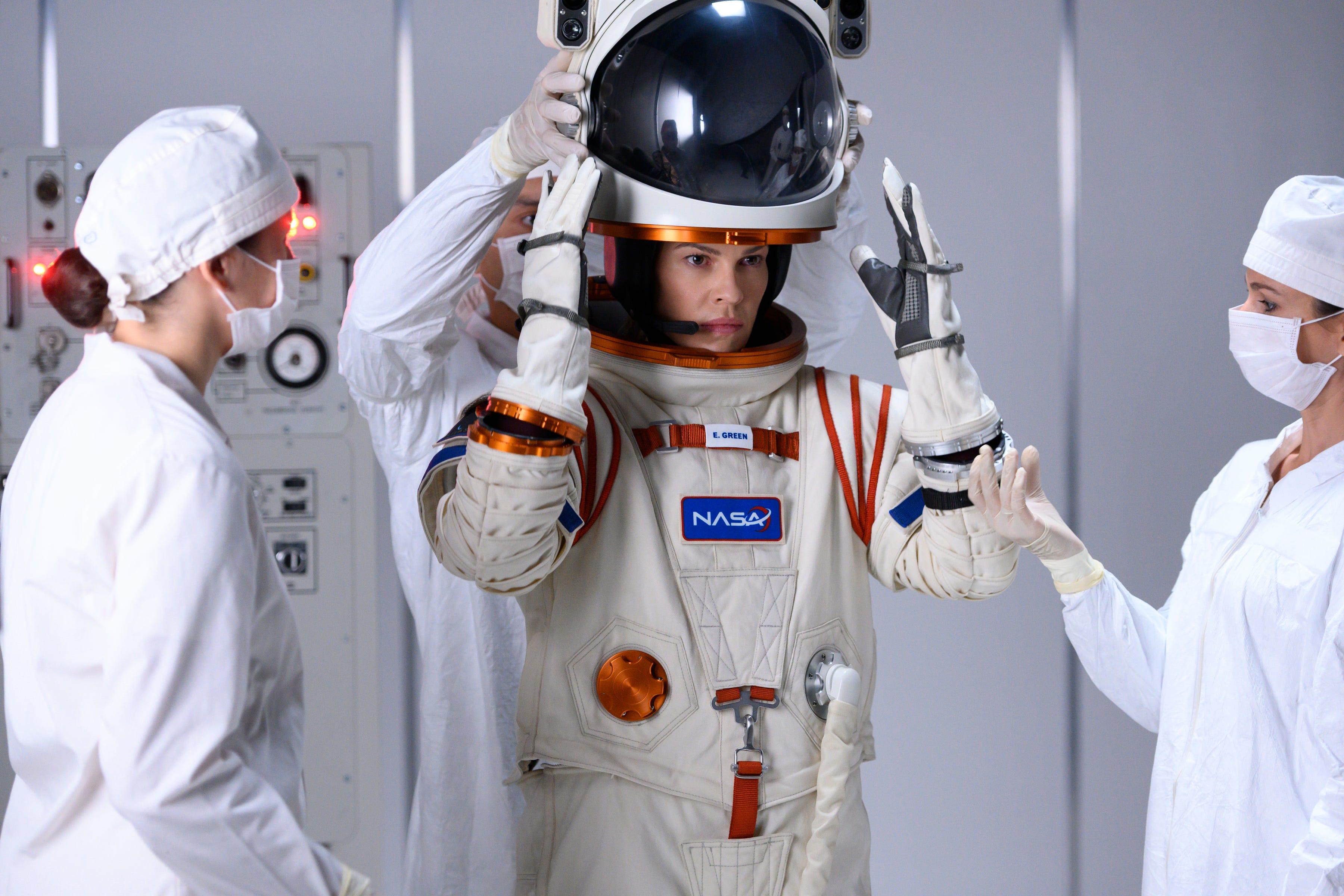 Away  exclusive: Photos, trailer and Hilary Swank on her timely new Netflix space drama