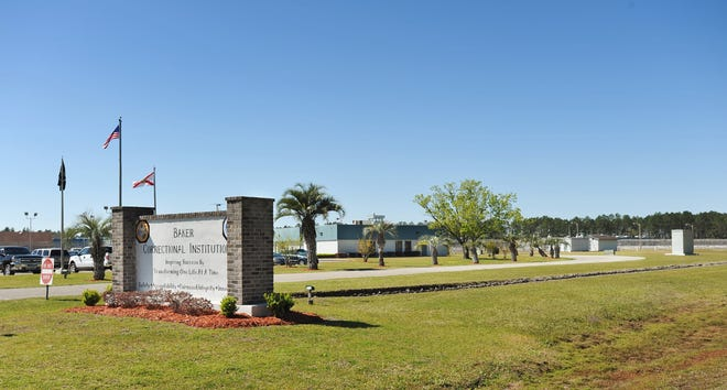 Baker Correctional Institution in Sanderson has recorded more than 400 COVID-19 cases to date. [Will Dickey/Florida Times-Union]