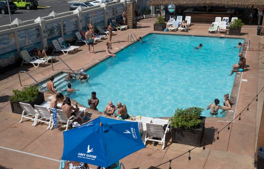 Guests visit the pool at Paradise in Asbury Park on Saturday, Aug. 8. Paradise, a popular destination for members of the LGBTQ community, is among the area destinations that has had to adapt to life during the COVID-19 pandemic.