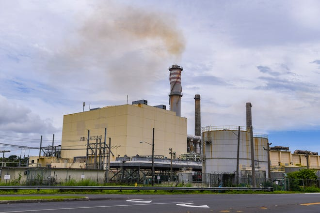 Smoke emits from stacks of Guam Power Authority plants in Piti Saturday, Aug. 8, 2020. Several environmental groups filed a suit against the U.S. Environmental Protection Agency, allegingit has allowed Guam to not turn in reports of failure to submit plans to clean up sulfur dioxide air pollution.