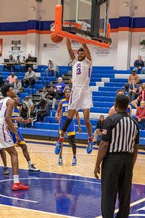 Georgia Highlands College standout Langston Wilson averaged 10.1 points, 7.6 rebounds and 1.2 blocks a game as a freshman in 2019-20.