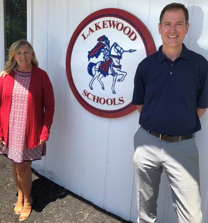 Lakewood has transitioned from Mary Kay Andrews (left) to Dr. Mark Gleichauf (right) as superintendent during the pandemic.
