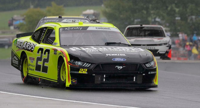 Austin Cindric drives through Road America's Turn 6 on his way to victory in the Henry 180 NASCAR Xfinity Series race last season.