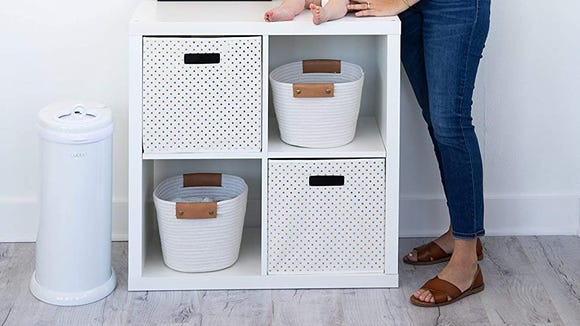 This diaper pail's garbage bag compatibility will save you a ton of money in the long run.