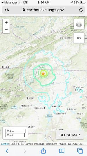 The quake's epicenter was in Sparta.