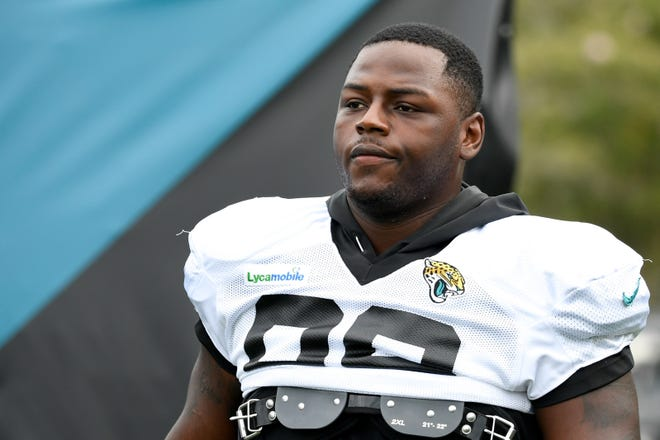 Defensive tackle Dontavius Russell is among two Jaguars placed on injured reserve Sunday. [Douglas DeFelice/USA TODAY Sports]