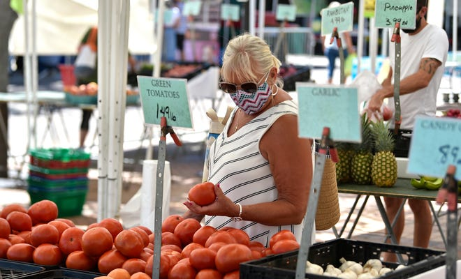 The Sarasota Farmers Market reopened in August, with modifications to promote social distancing and a mask requirement.