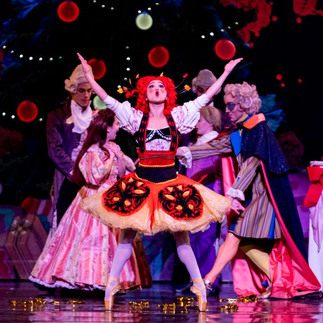 "Cincinnati Ballet dancer Minori Sakita was featured as the Raggedy Ann doll in a 2019 performance of ""The Nutcracker presented by Frisch's Big Boy.""  Photo: Jennifer Denham."