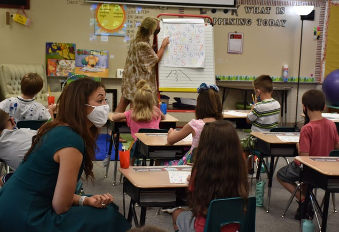 Tennessee Education Commissioner Penny Schwinn visited Creek Wood High School and Centennial Elementary School in Dickson County on Friday, Aug. 7.