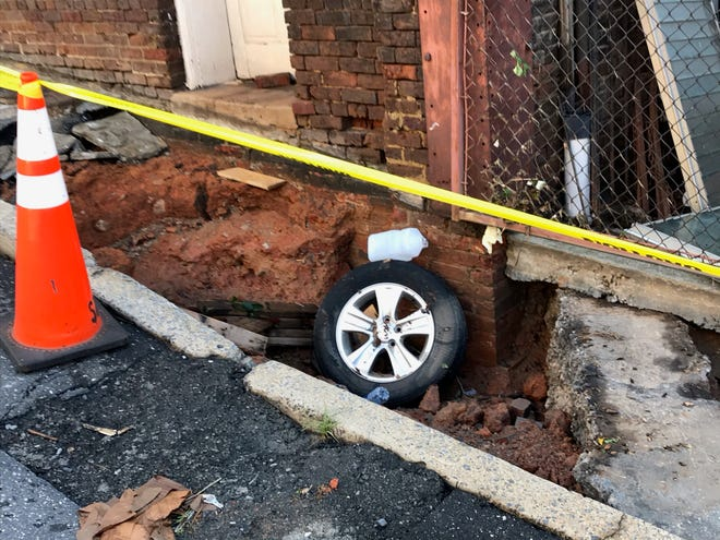 Flooding aftermath in Staunton Aug. 9, 2020.
