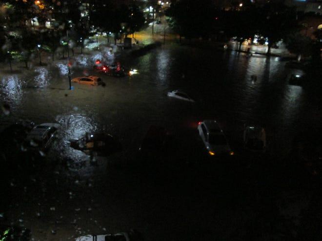 Flooding in downtown Staunton Aug. 8, 2020.