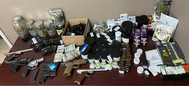 Items found in drug bust